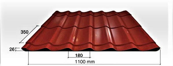 Plieninė stogo danga – čerpių imitacija